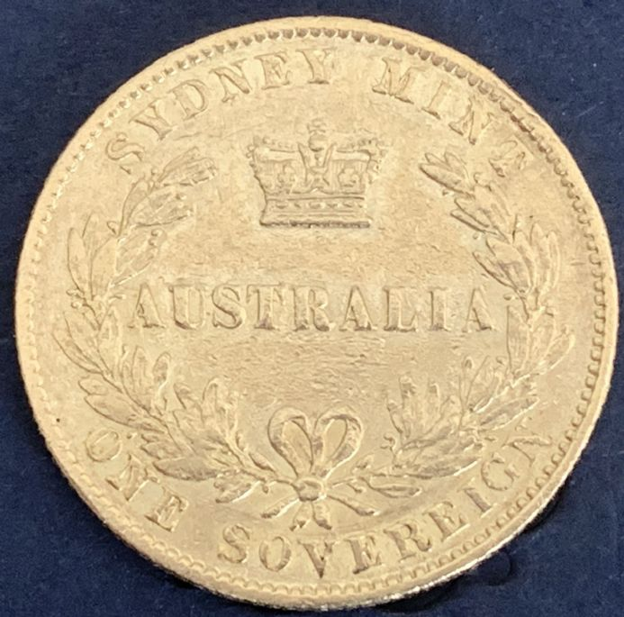 1868 Gold  Sovereign Coin Sydney Mint